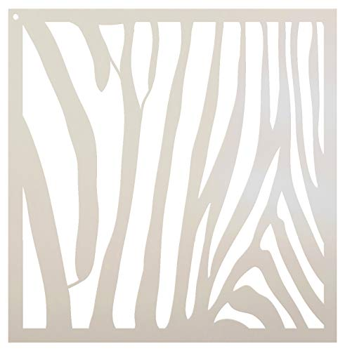 Zebra streifen Schablone von studior12| Fun Wild Tier-Muster Kunst-groß 18x 18wiederverwendbar Mylar | Malerei, Kreide, Mischtechnik | Vorlage, für Wand-Kunst, DIY Home Decor-stcl633_ 5 -