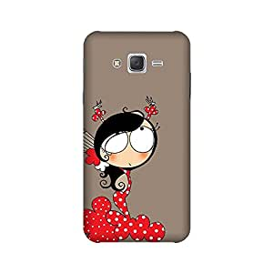 Abaci designed Samsung Galaxy On5 2015 edition Mobile Back cover with Perfect Matte finishing and Girl Illustration design(Multicolor)