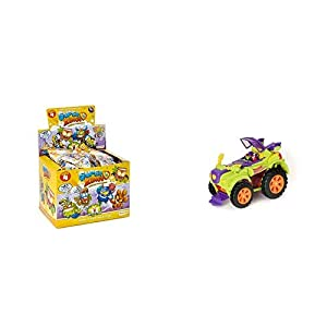 SUPERZINGS - Serie 4 - Display de 50 Figuras coleccionables + PlaySet Villano Truck Especial Vehículos y Figuras coleccionables, Color Verde