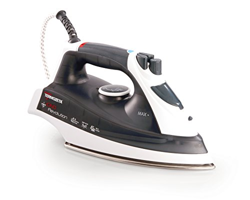 Termozeta iono revolution dry & steam iron stainless steel soleplate 2400w black,white - irons (dry & steam iron, stainless steel soleplate, black, white, 0.4 l, 2400 w)