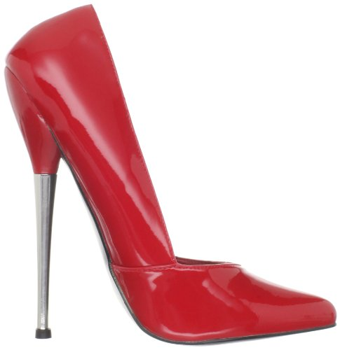 Devious DAGGER-03 Damen Extrem High Heels Red pat