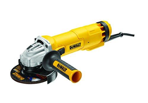 DeWalt DWE4237K-QS - Mini-amoladora 125mm 1.400W 11.500 rpm Arranque Suave + Bloqueo y re-arranque + maletín