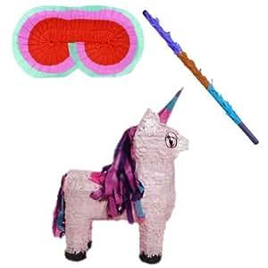 Unicorn Pinata Kit -Includes Pinata,Pinata Buster,Pinata Blindfold