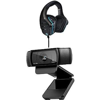 Logitech G633 Artemis Spectrum Pro Gaming Cuffia Cablata con Microfono + HD Pro C920 WebCam Full HD 1080p con Autofocus e Microfono Integrato