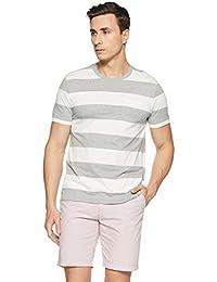 GAP Essential Short Sleeve Rugby Stripe Crewneck Pocket T-Shirt For Men's