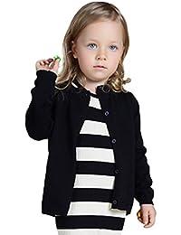 YOUJIA Basic Cardigan di Maniche Lunghe Casual Knit Jacket Outwear Tops  Bambine e Ragazze b2aabaaea1b8