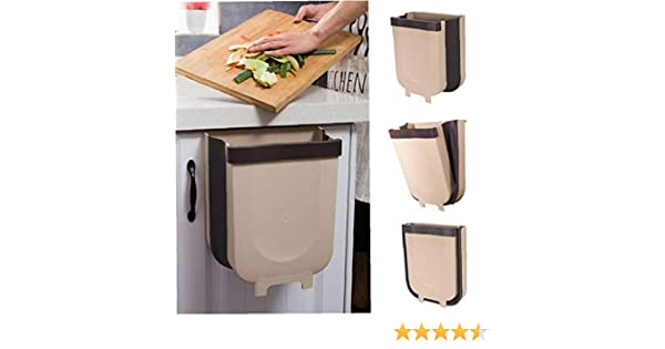 Blanc DUTISON Kitchen Poubelle Pliable Wall Mounted pour Voiture Bureau /à Domicile 9L