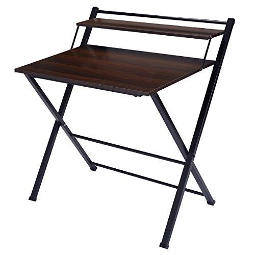 COSTWAY Computertisch Schreibtisch PC-Tisch Arbeitstisch Bürotisch mit Ablage klappbar