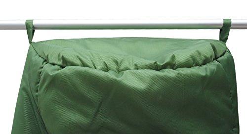 ALEXIKA Schlafsack Aleut, rechte Reißverschluss, grün-grau / grau, 95(Breite oben)x230(Länge) x65(Breite unten), 9232.0107R - 7