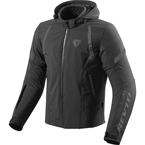 Soft-laminiert (revit BurnTextiljacke 3 Lagen Motorrad Jacke Soft-Shell Kapuze Motorradjacke (XXL, schwarz))
