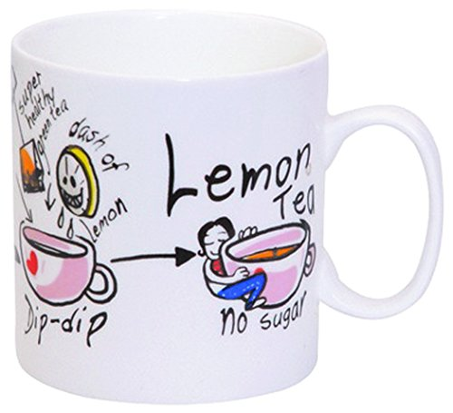 Pyaala Chai Lemon Milk Mug, 390ml/8.4cm, Multicolour