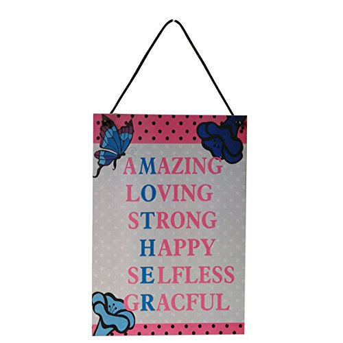 e Wall Plaques Zeichen Mutter Tag Geschenke erstaunlich lieben stark glücklich SELFFLESS Graceful hängen Holzschild Plaque Home Decor ()