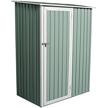 charles bentley garden 47ft x 3ft metal storage shed chest small green roof door apex
