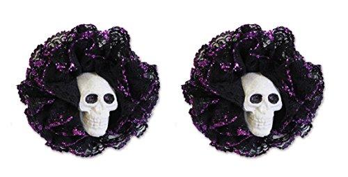 ück Totenkopf Haar Clips (Wearable Halloween Kostüme)
