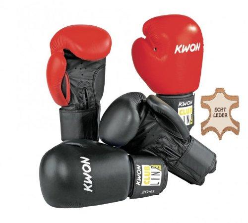 KWON Boxhandschuhe POINTER echt Leder Gr. 10 oz schwarz
