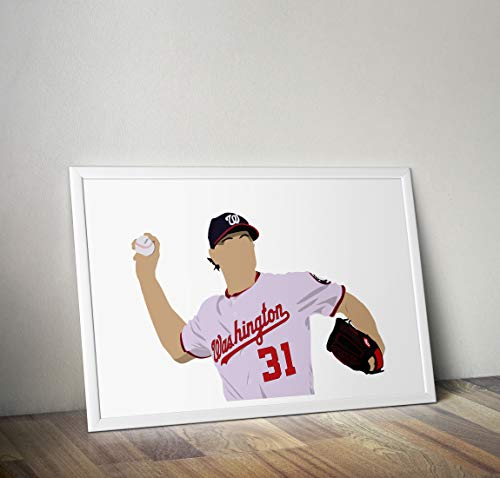 731dc985 Max Scherzer Inspired Poster - Minimalist Style - Print- Art - Various  Sizes Available -