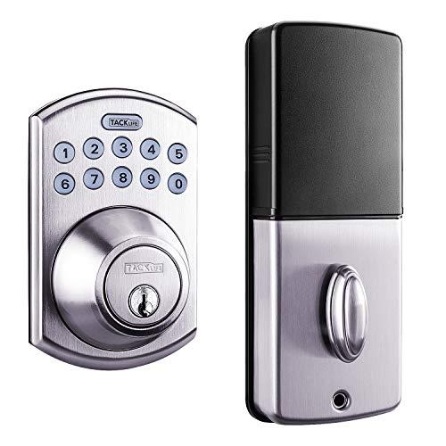 Tacklife EKLP1A-Cierre de puerta electrónico con un botón de blo