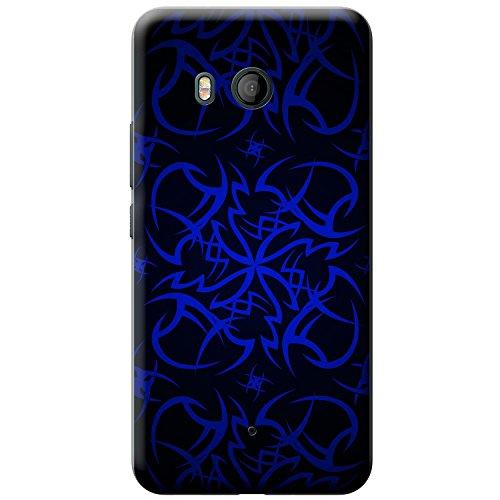 Kult-Tattoo Tribal - Blau Hartschalenhülle Telefonhülle zum Aufstecken für HTC U11 Htc Tattoo