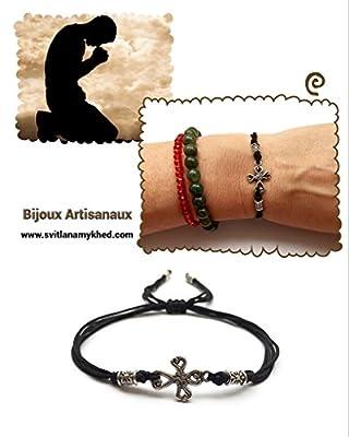 Bracelet homme femme CROIX GOTHIQUE métal argenté