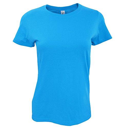 SOLS Imperial - T-shirt épais à manches courtes - Femme Denim