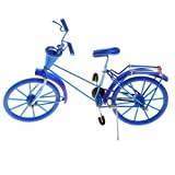 Fenteer Miniatur Fahrrad Figur Geldgeschenk Fahrradmodell Tischdeko, ca. 20 x 6 x 13 cm - Blau