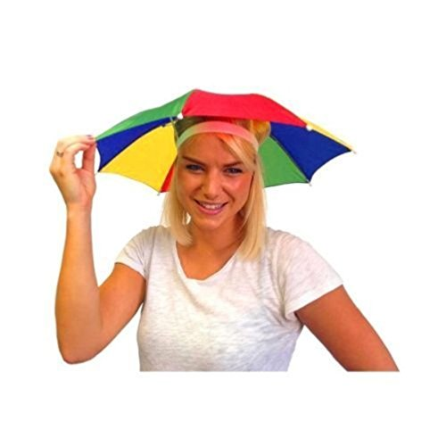 Hats & Headgear Accessories Umbrella Hat Novelty Adult Costume Hat Ladies Mens Multi Colour Festival Hat