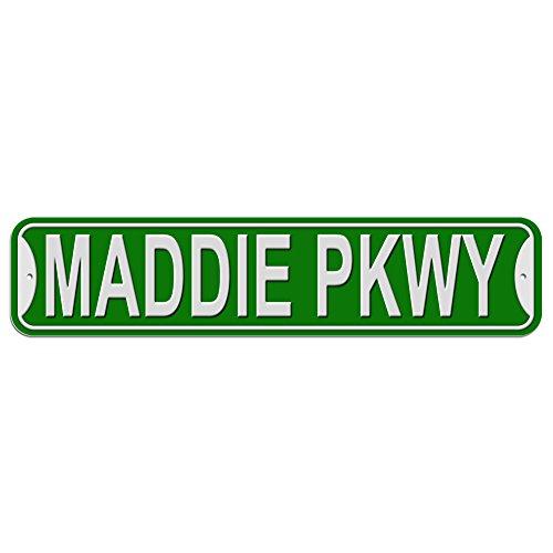 Maddie Schild–Kunststoff Wand Tür Street Road weiblich Name, plastik, grün, Parkway