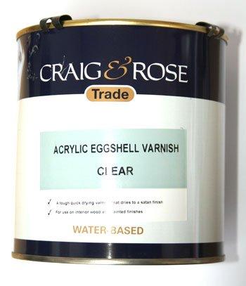 Craig & Rose : Acrylic Varnish Eggshell : 2.5 litre