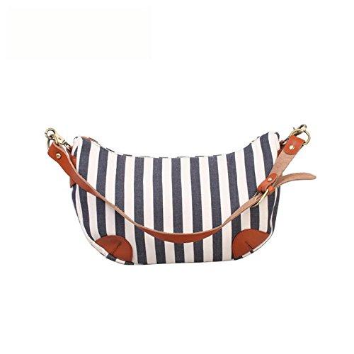 &ZHOU femminile borsa di tela grande capacità del messaggero sacchetto di svago di moda borsa a tracolla zaino 26 * 21 * 11cm , blue Blue