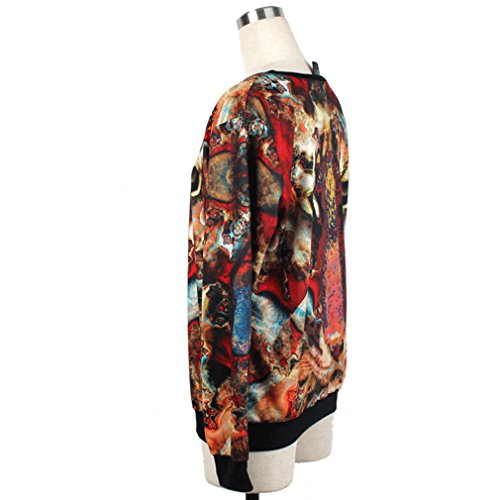 Thenice Pull à imprimé numérique pour femme Sweat-shirt - Tiger head