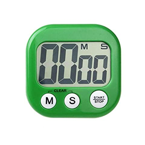 Ouneed Practical Magnetic Kitchen Digital LCD Count Down Up Counter Timer Alarm Clock (Green)