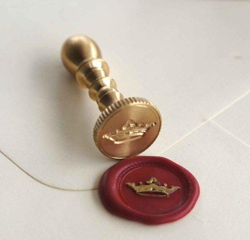 Mini-Siegel Messing Petschaft incl. Gravur Motiv Krone