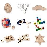 Bartl 500264 Knobelspiele aus Holz Puzzle Set A (9 Puzzles) Geschicklichkeitsspiele für Erwachsene und Kinder