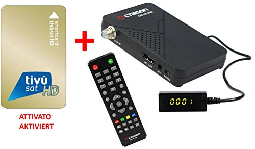 ATTIVATO / Aktiviert Tivusat Karte + Octagon SX8 Full HD Sat Receiver Angebot inkl. M@tec Digital HDMI Kabel