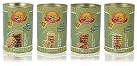 Aataberry Biscotti Honey Oatmeal Raisins, Fruit Kaju, Choco Chip and Multi Grain Cookies, 300 Grams (Combo of 4)