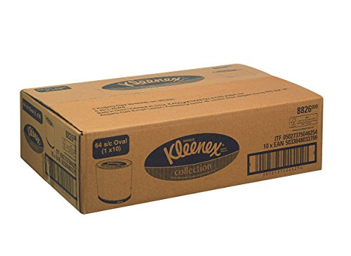 kleenex-8826-facial-tissue-3-ply-oval-64-sheets-per-box-white-pack-of-10