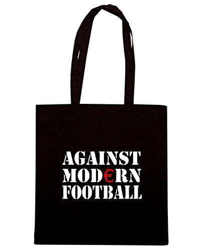T-Shirtshock - Borsa Shopping TR0002 Against Modern Football T-Shirt Ultras, Fussball, ACAB, Hooligan, Anti Nero