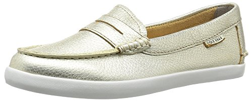 Cole Haan Damen Pinch Weekender Loafer Slipper, Metallic Leather Soft Gold, 37 EU -