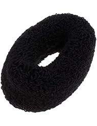 SODIAL(R) 2 Pcs Headdressing Black Elastic Terry Ponytail Holder Hairband pour Femme