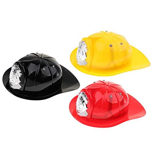 FLAMEER 3 Stück Kinder Halloween Feuerwehrmann Schutzhelm Hut -
