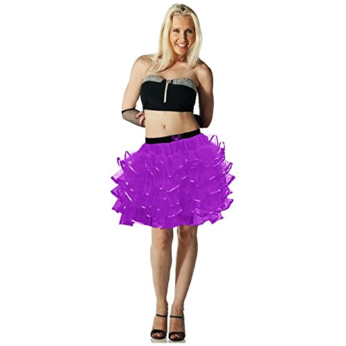 5 Layer Purple Tutu Skirt (other colours available) with bow tie and elasticated waist - Standard Size