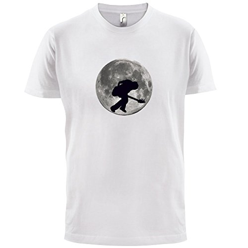 Bass Player Moon - Herren T-Shirt - 13 Farben Weiß