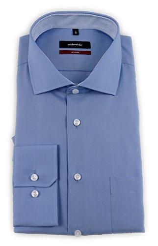 Seidensticker Herren Businesshemd Modern Bügelfrei Blau (Blau 11)