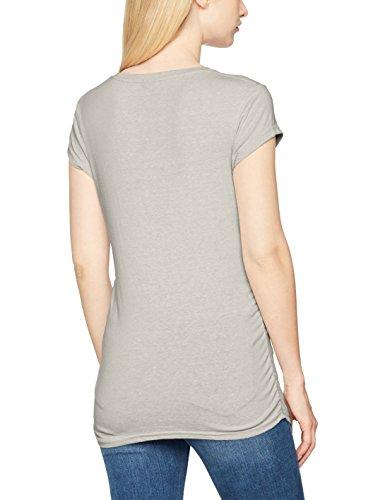 Bench Damen T-Shirt Classic Corp Logo Tee Grau (Summer Grey Marl MA1026)