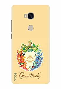 Noise Designer Printed Case / Cover for Huawei Honor 5X / Animated Cartoons / Choose Wisely Design