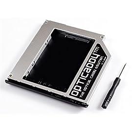 Opticaddy© SATA-3 HDD/SSD Caddy Adattatore per HP Elitebook 2530p 2540p - sostituisce l'unità Ottica, Dotato di Tecnologia OptiSpeed (Adattatore Originale)