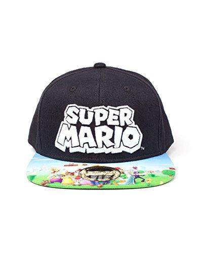 Nintendo Snapback Cap Super Mario Logo With Printed Bill