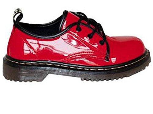 Foster Footwear , Bottes Motardes fille femme Red Shoe