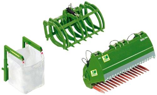 Wiking 7382 - Frontlader Werkzeuge Set B, grün