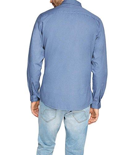 edc by Esprit 026cc2f015 - Basic - Chemise de loisirs - Homme Bleu - Blau (NAVY 400)